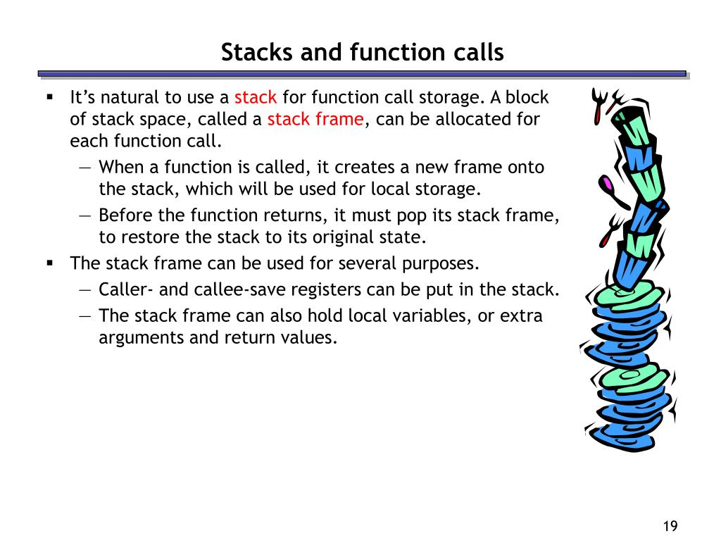 Stacks and function calls