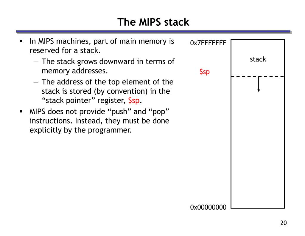The MIPS stack