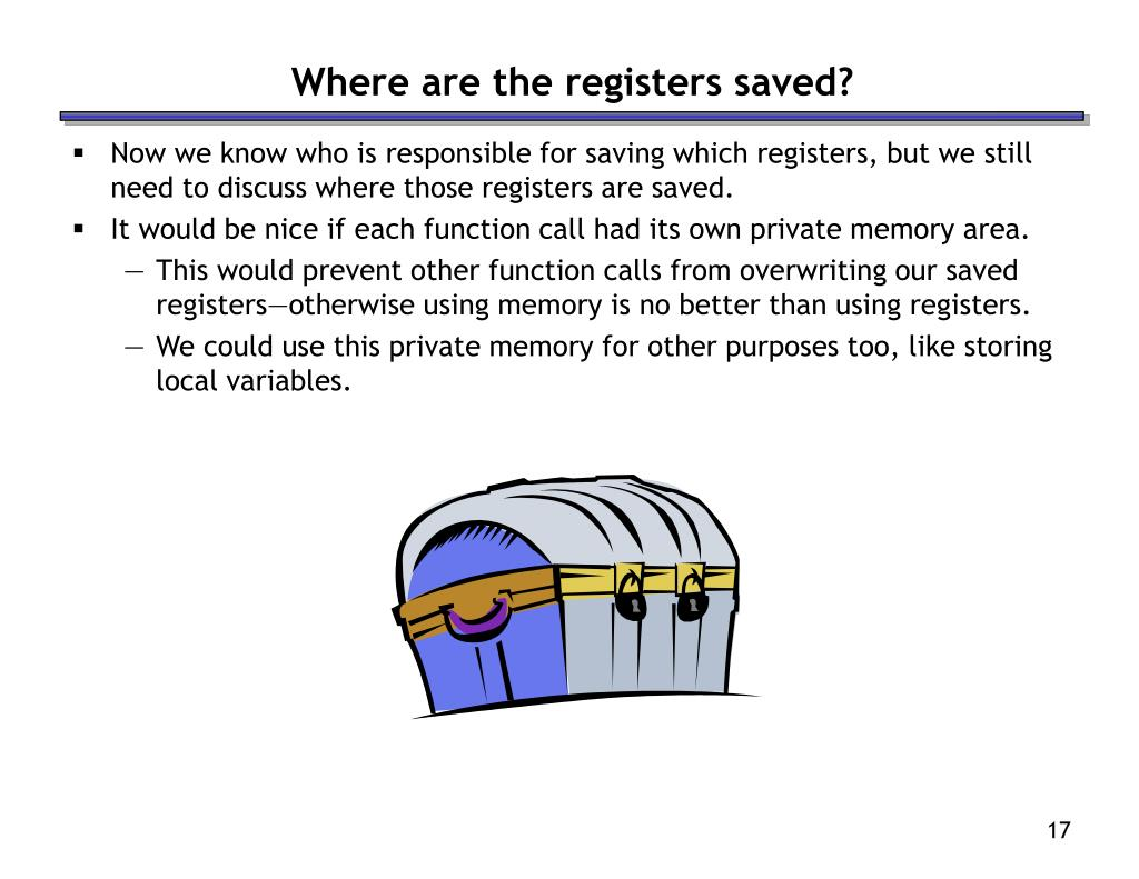 Where are the registers saved?
