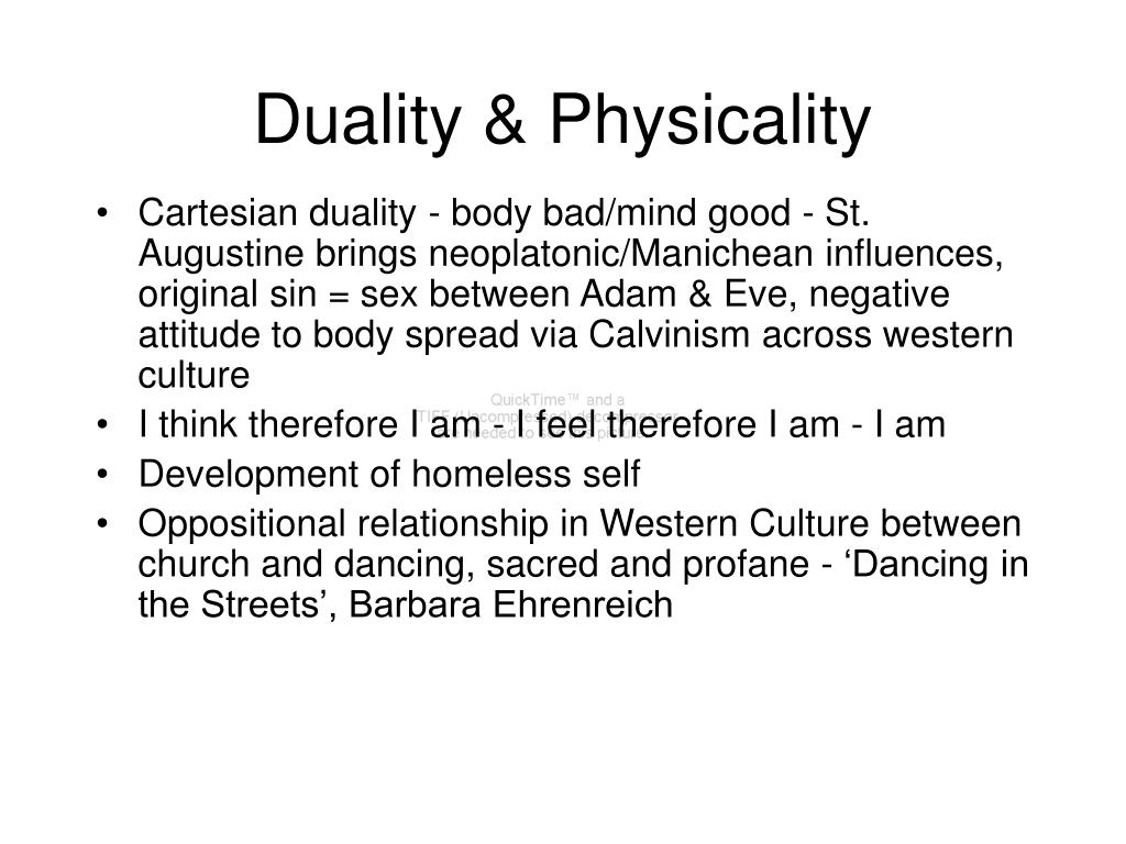Duality & Physicality