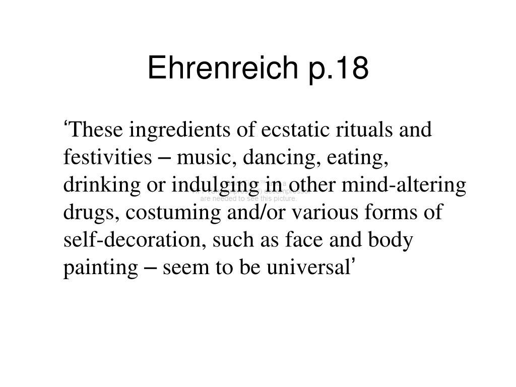 Ehrenreich p.18