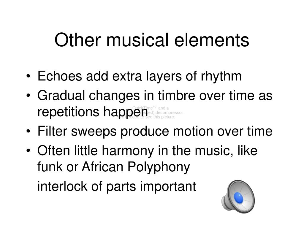 Other musical elements