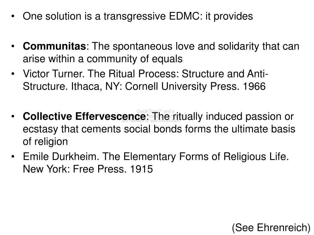 One solution is a transgressive EDMC: it provides