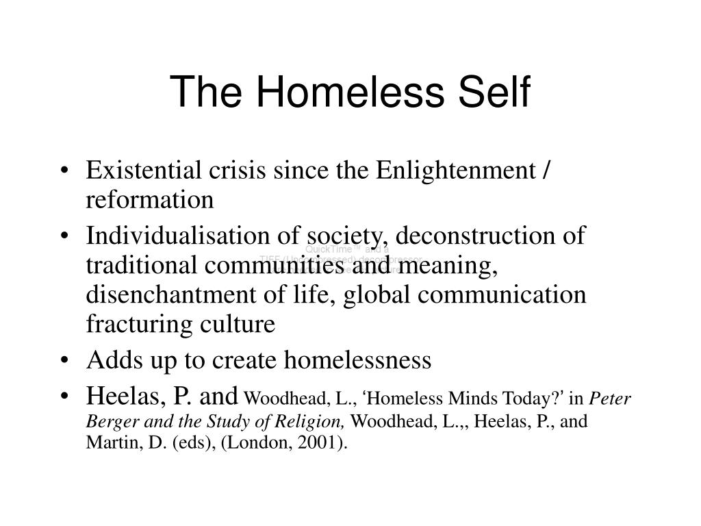 The Homeless Self