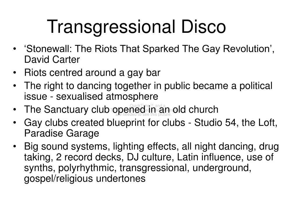Transgressional Disco