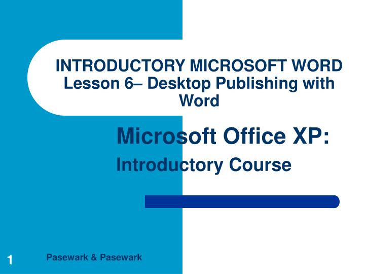 microsoft word lesson