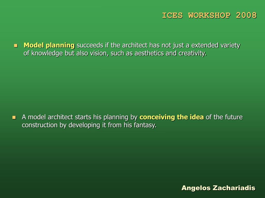 Model planning