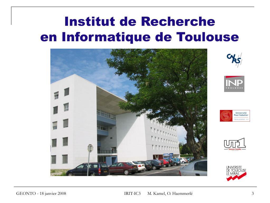 Institut de Recherche