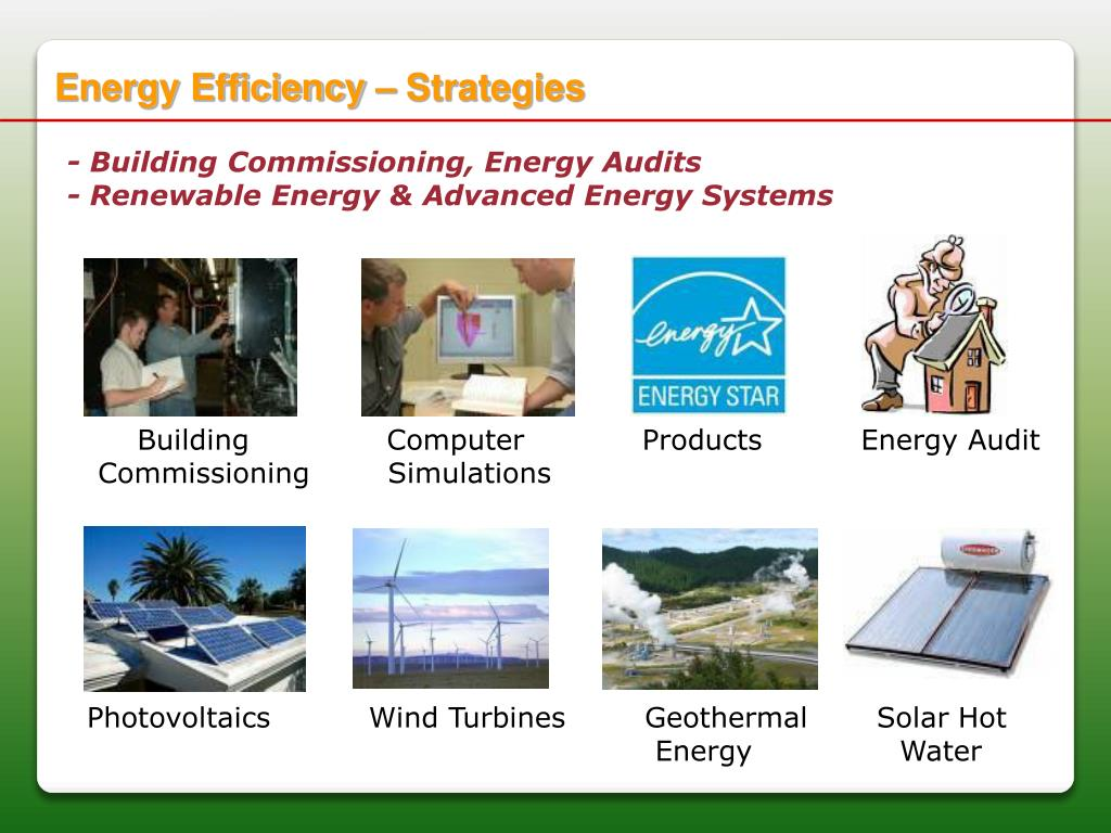 Energy Efficiency – Strategies