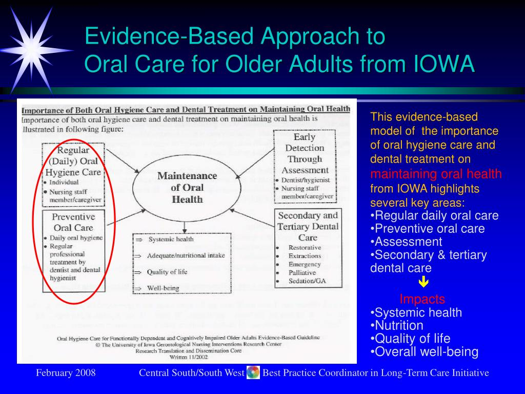 Evidence-Based Approach to                  Oral Care for Older Adults from IOWA