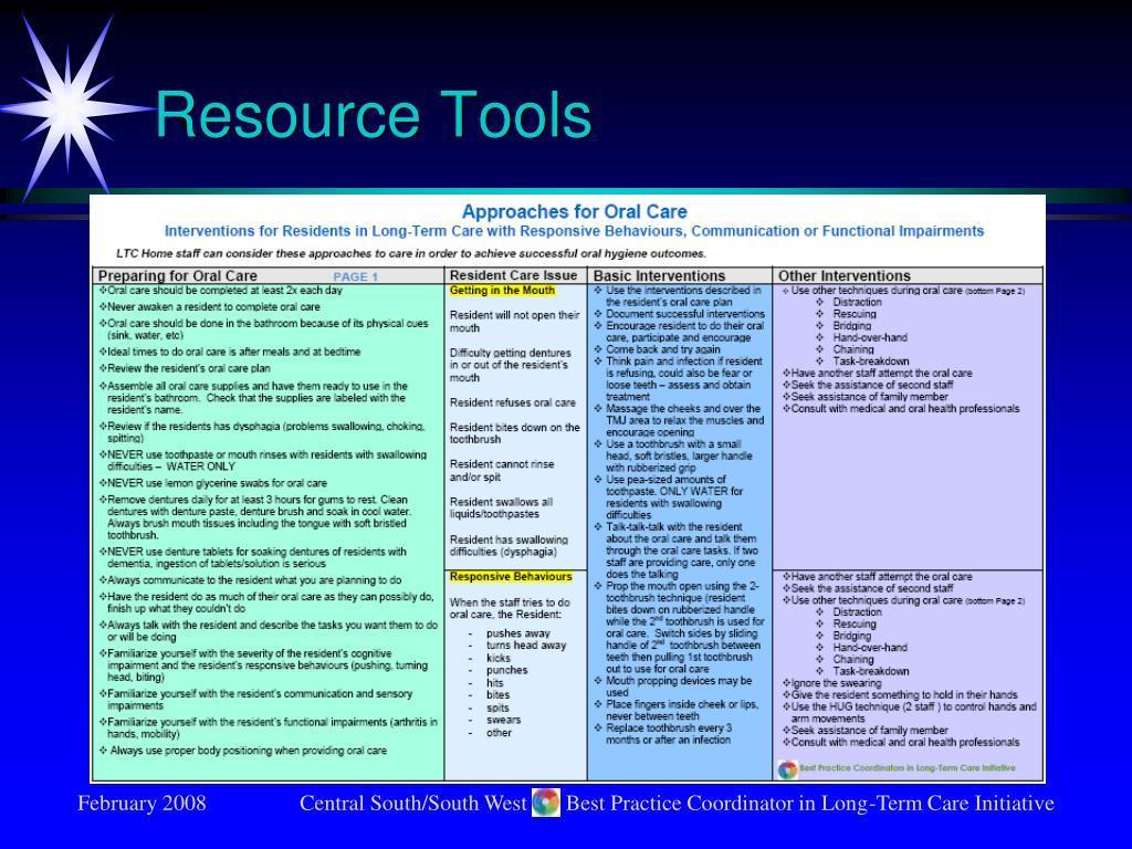 Resource Tools