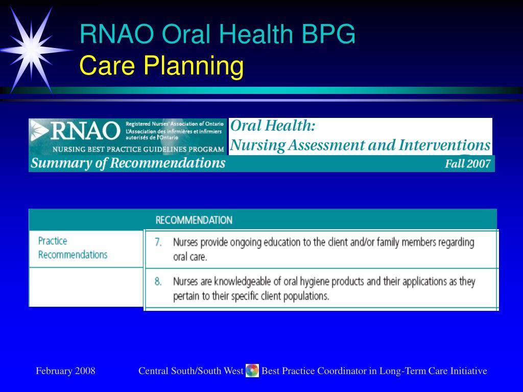 RNAO Oral Health BPG