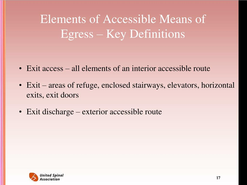Elements of Accessible Means of Egress – Key Definitions