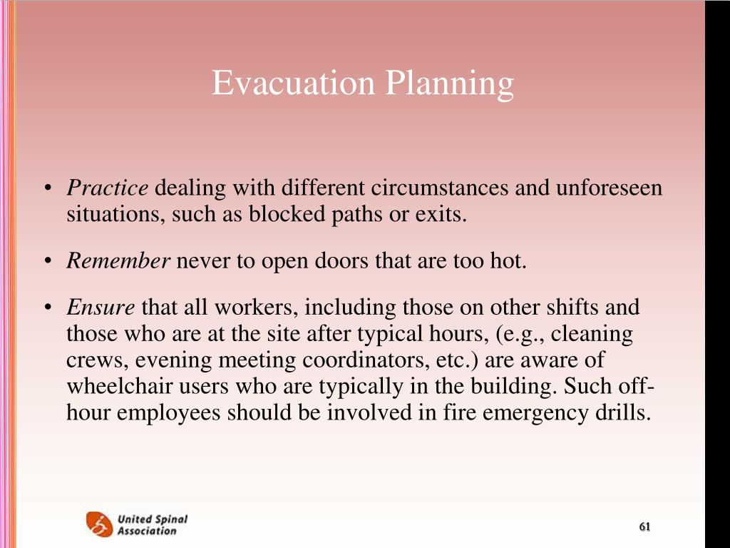 Evacuation Planning