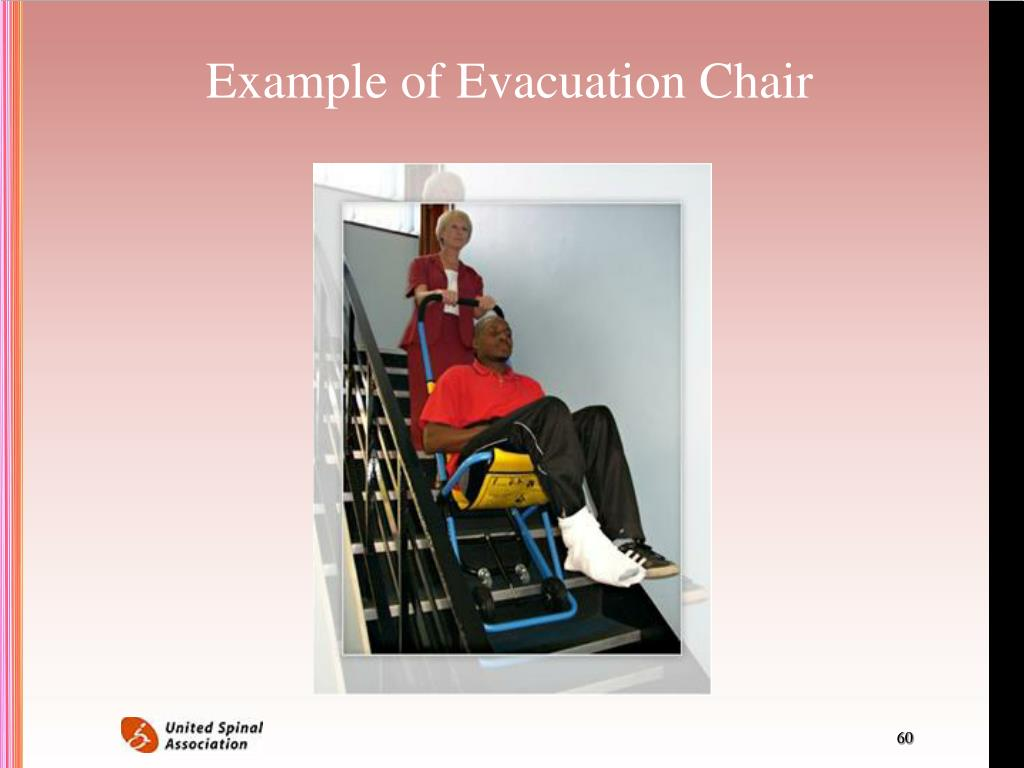 Example of Evacuation Chair