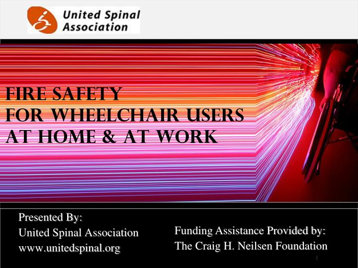 Fire safety for wheelchair users at home at work
