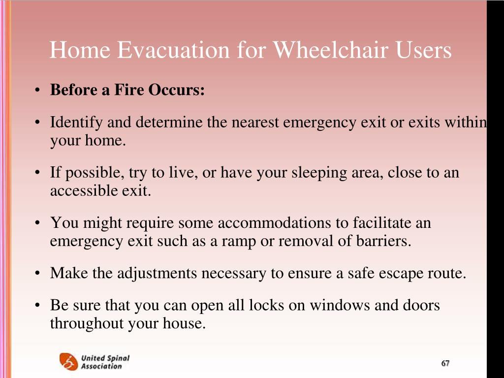 Home Evacuation for Wheelchair Users