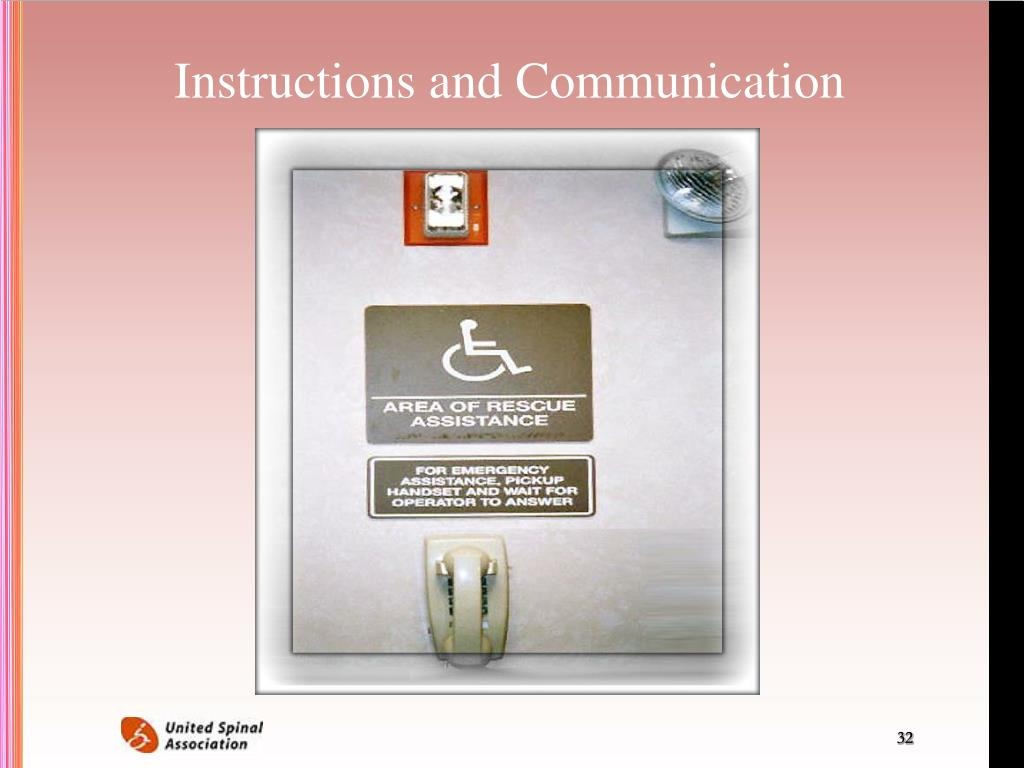 Instructions and Communication