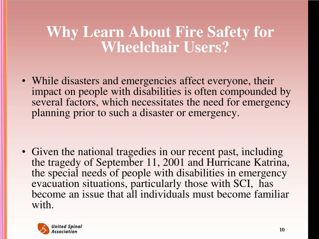 Why Learn About Fire Safety for Wheelchair Users?