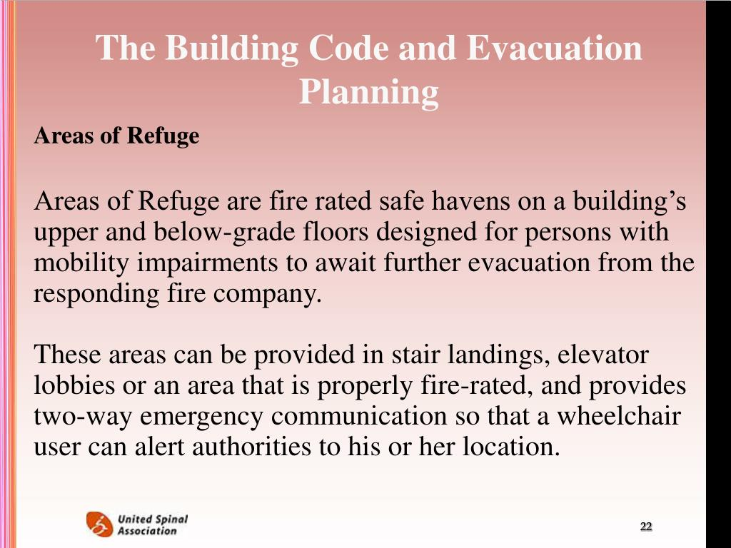 The Building Code and Evacuation Planning