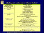 challenges to collaboration barrier busters