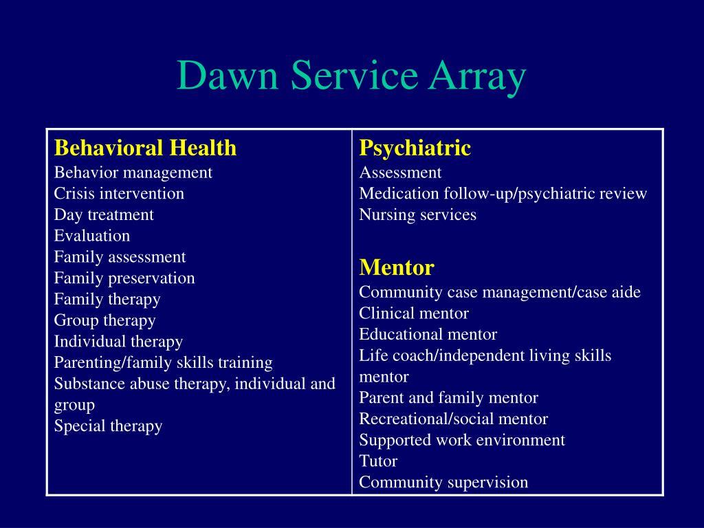 Dawn Service Array