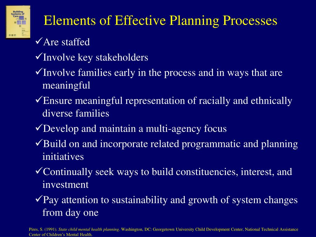 Elements of Effective Planning Processes