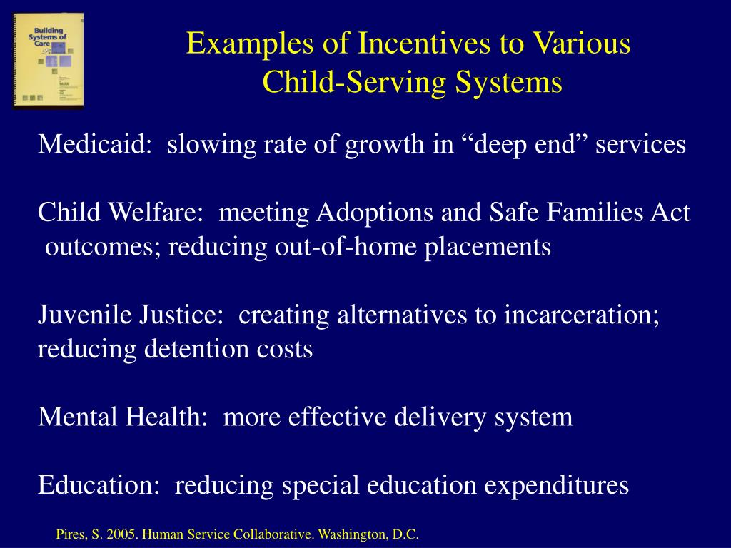 Examples of Incentives to Various