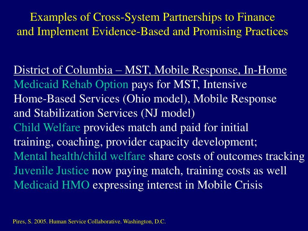 Examples of Cross-System Partnerships to Finance