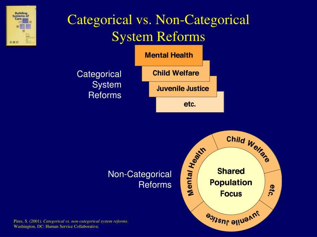 Categorical vs. Non-Categorical