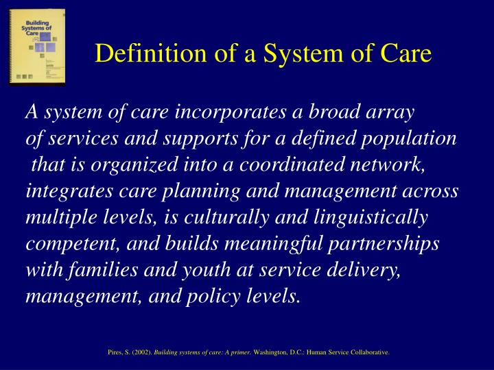 Definition of a System of Care