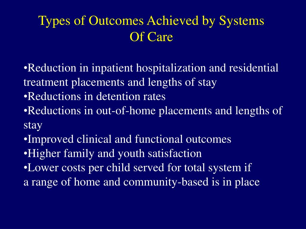 Types of Outcomes Achieved by Systems