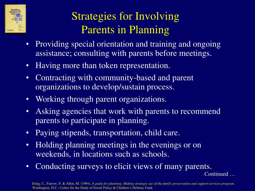 Strategies for Involving