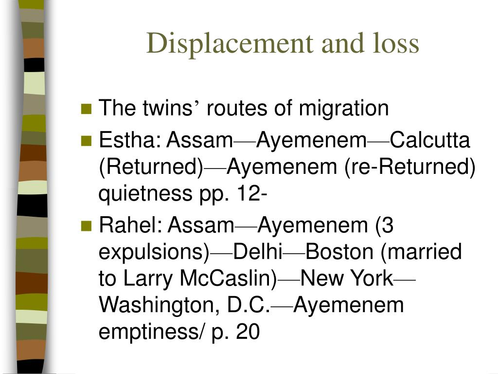 Displacement and loss