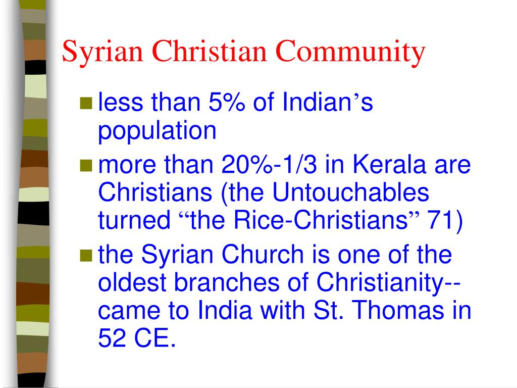 Syrian Christian Community