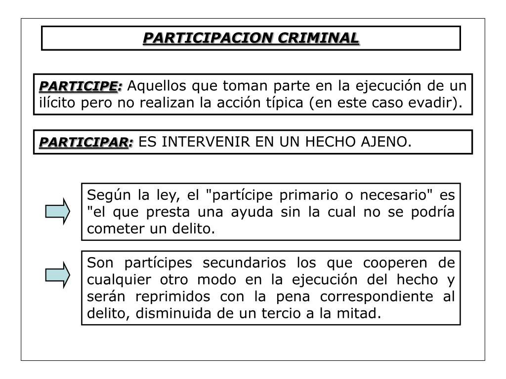 PARTICIPACION CRIMINAL