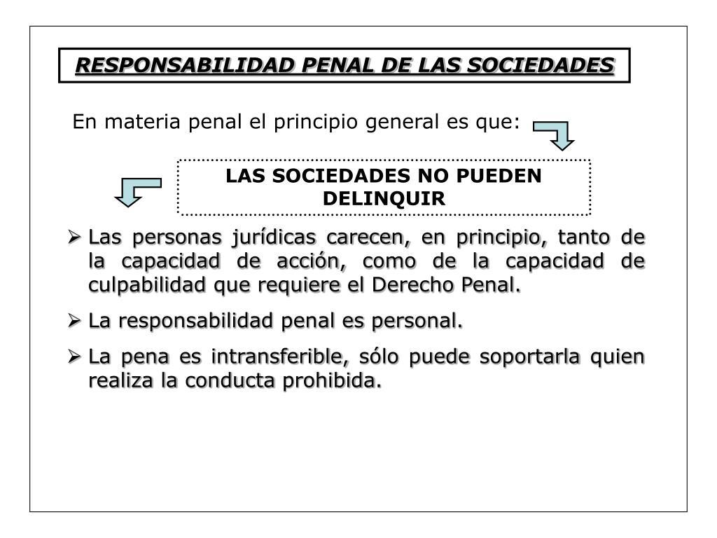 RESPONSABILIDAD PENAL DE LAS SOCIEDADES