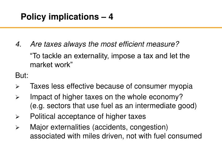 Policy implications – 4