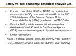 safety vs fuel economy empirical analysis 2