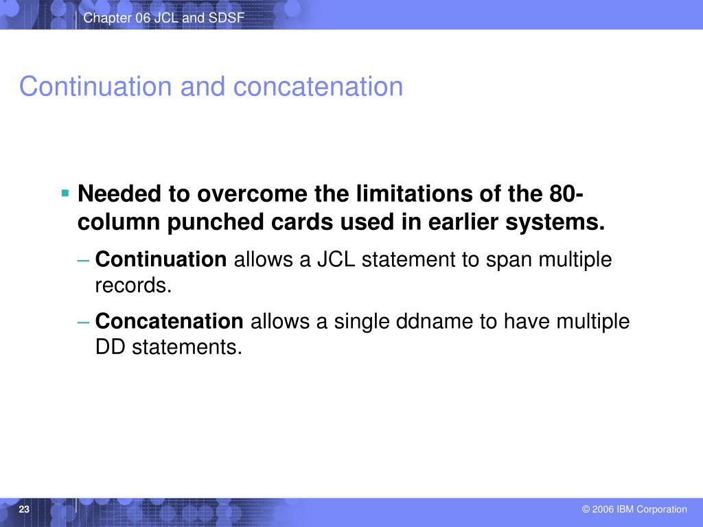 Continuation and concatenation