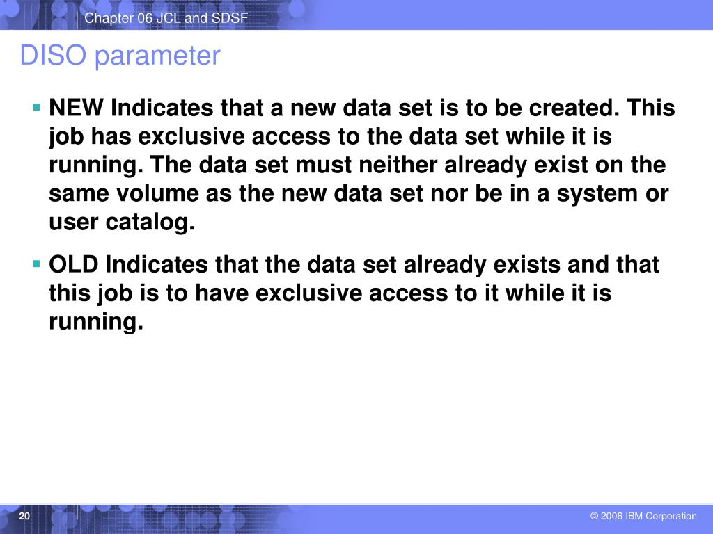 DISO parameter