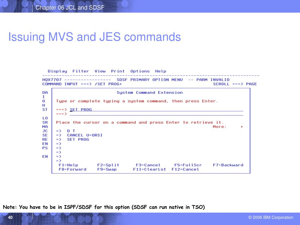 Issuing MVS and JES commands