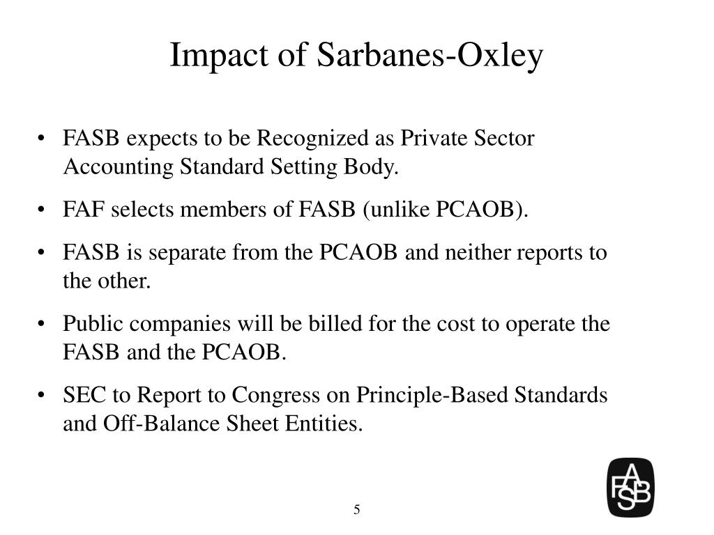 Impact of Sarbanes-Oxley