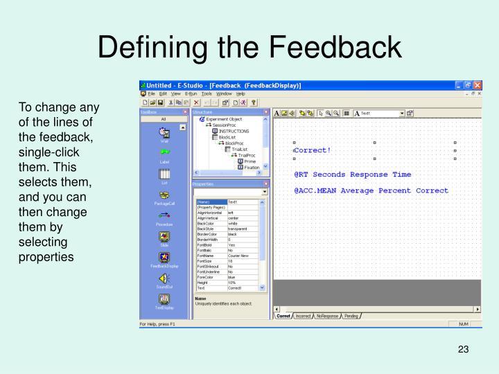 Defining the Feedback