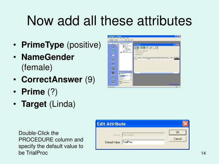 Now add all these attributes