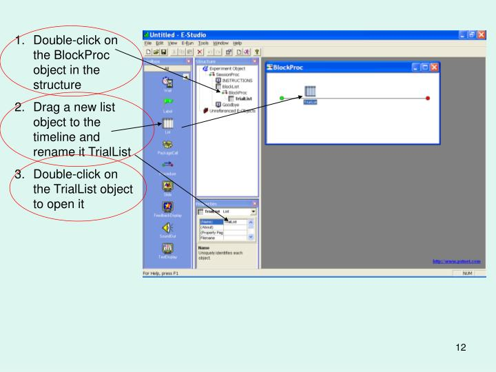 Double-click on the BlockProc object in the structure
