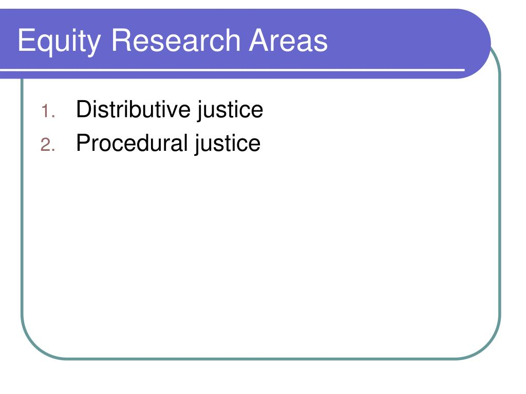 Equity Research Areas