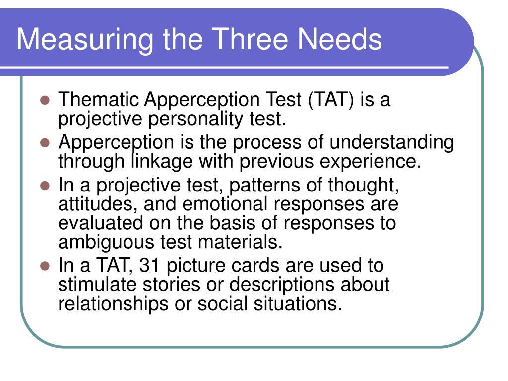 Measuring the Three Needs