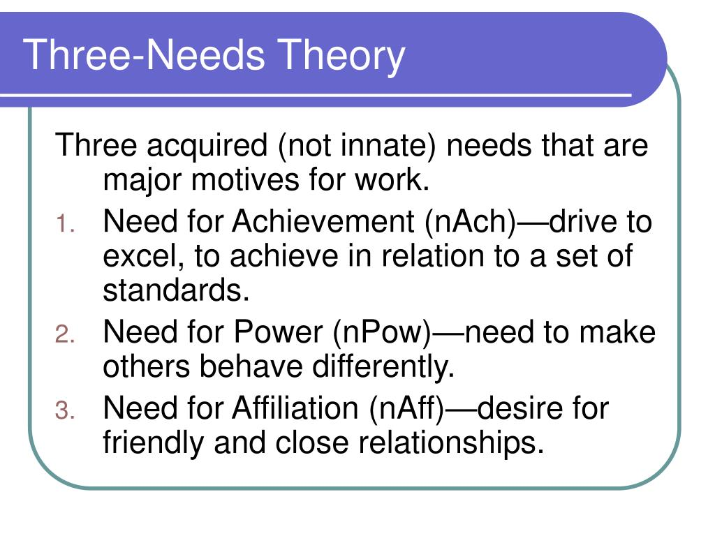 Three-Needs Theory