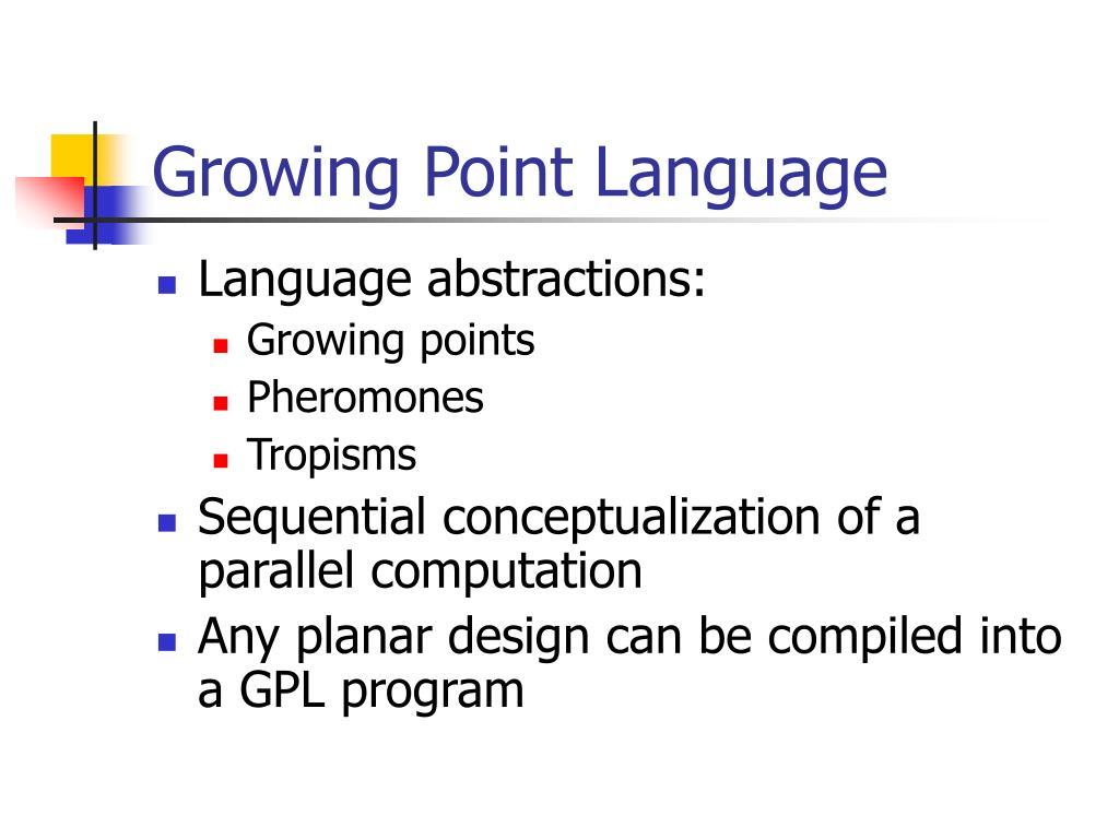 Growing Point Language